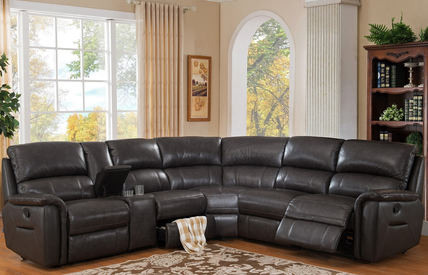 Sofas In Burton Leather 3 Piece Sectionals (View 7 of 20)