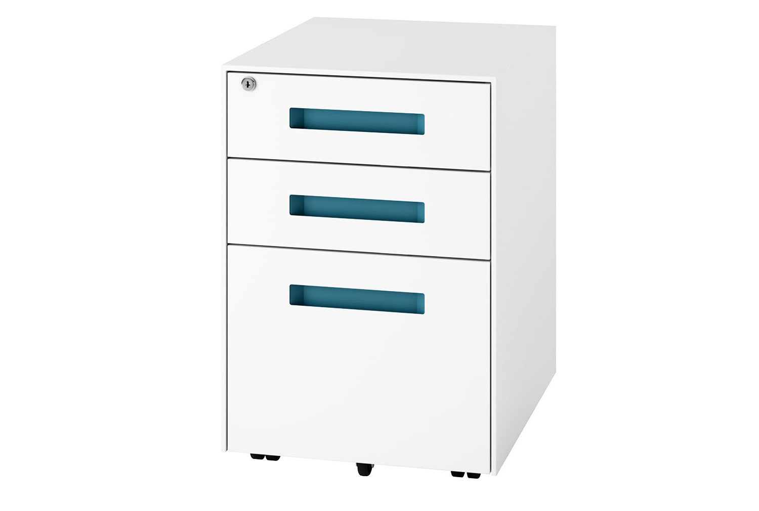 Solero Steel Pedestal (light Blue) – Furniture At Work For Most Current Rossi Large Sideboards (View 17 of 20)