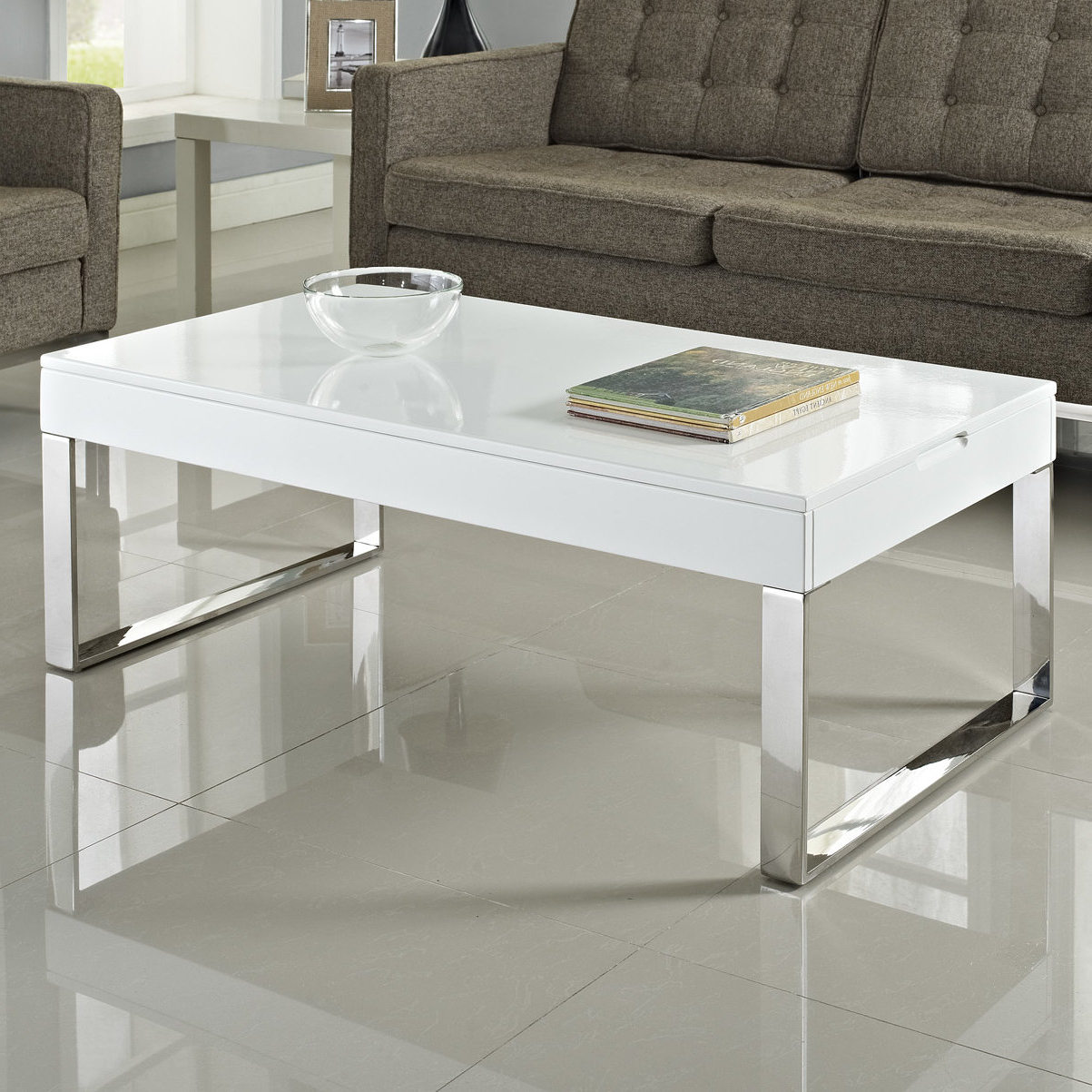 Stack Hi Gloss Wood Coffee Tables Pertaining To Current Modway Gloss Coffee Table & Reviews (View 12 of 20)