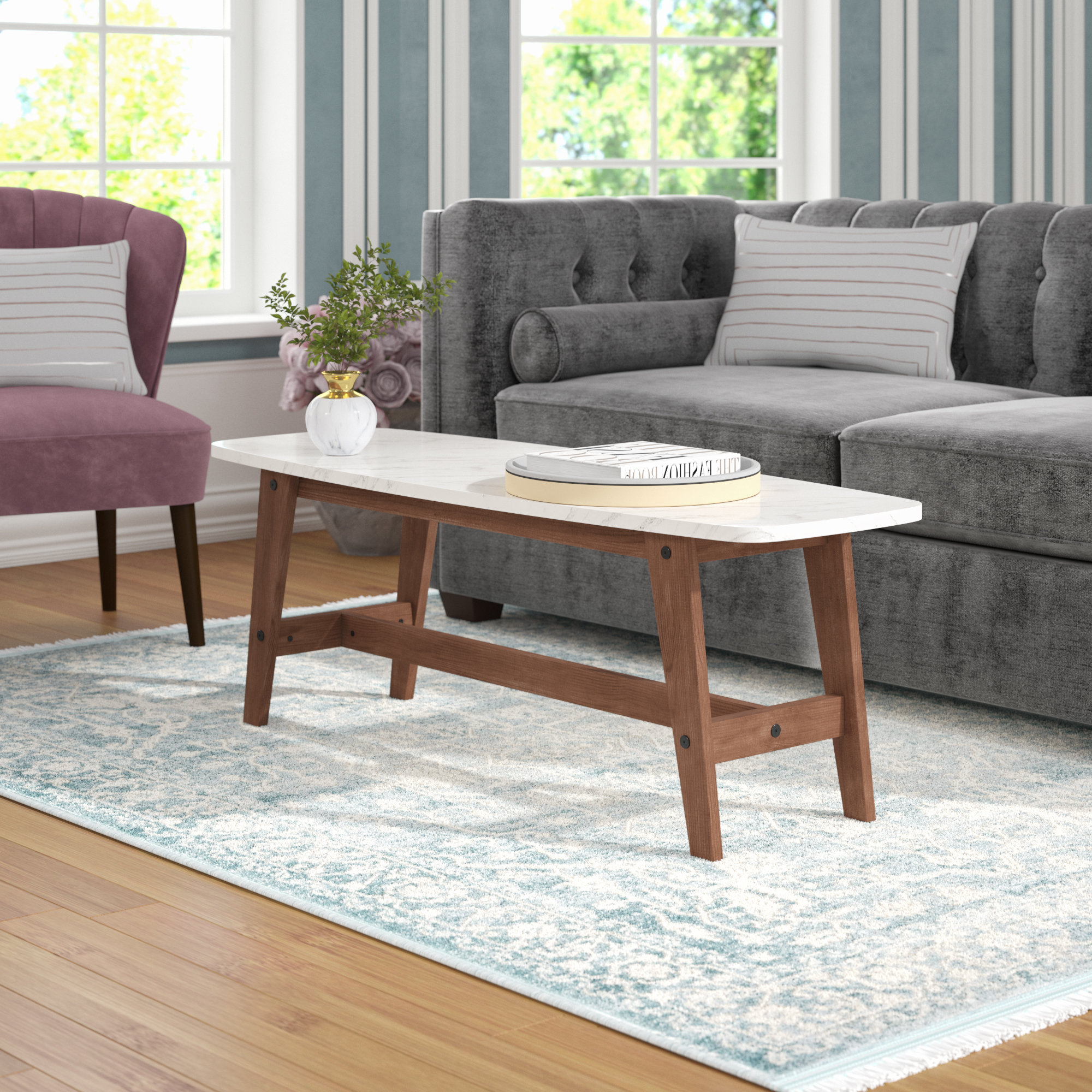 Stack Hi Gloss Wood Coffee Tables With Regard To Widely Used Mercury Row Posner Coffee Table & Reviews (View 7 of 20)