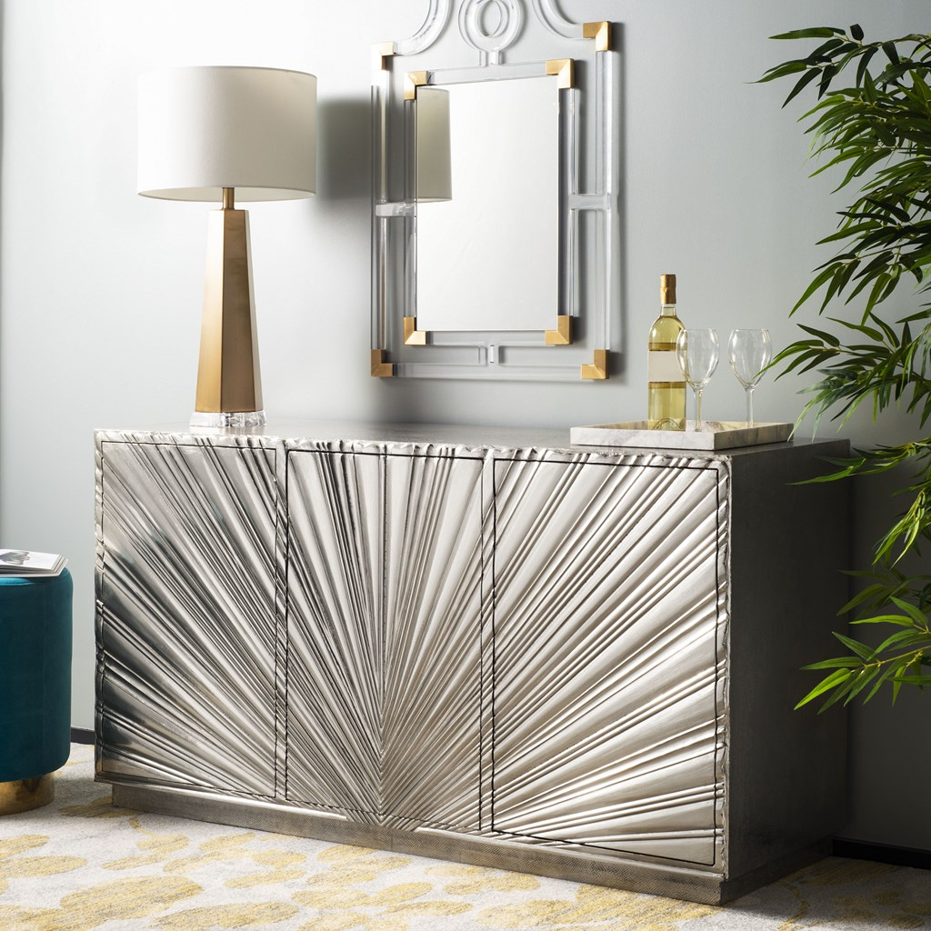 Starburst 3 Door Sideboards Regarding Most Popular Sylas Sunburst 3 Door Sideboard – Safavieh (View 12 of 20)