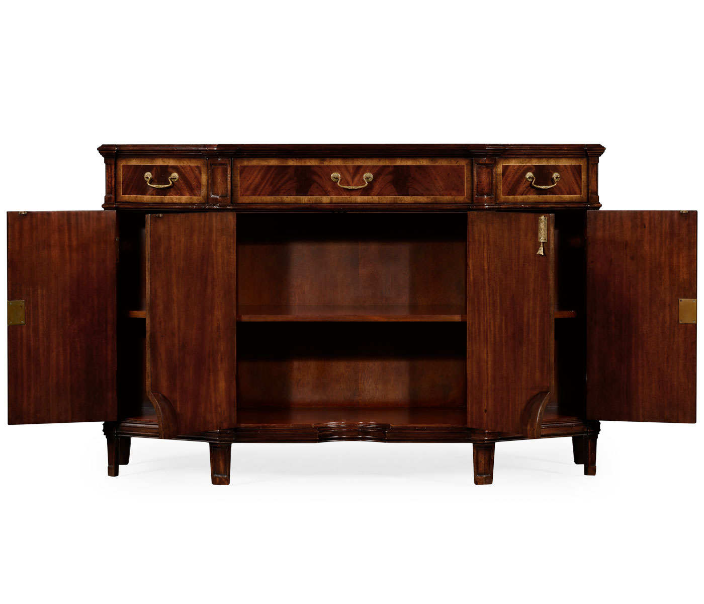 Starburst Mahogany Side Cabinet With Most Popular Starburst 3 Door Sideboards (View 17 of 20)