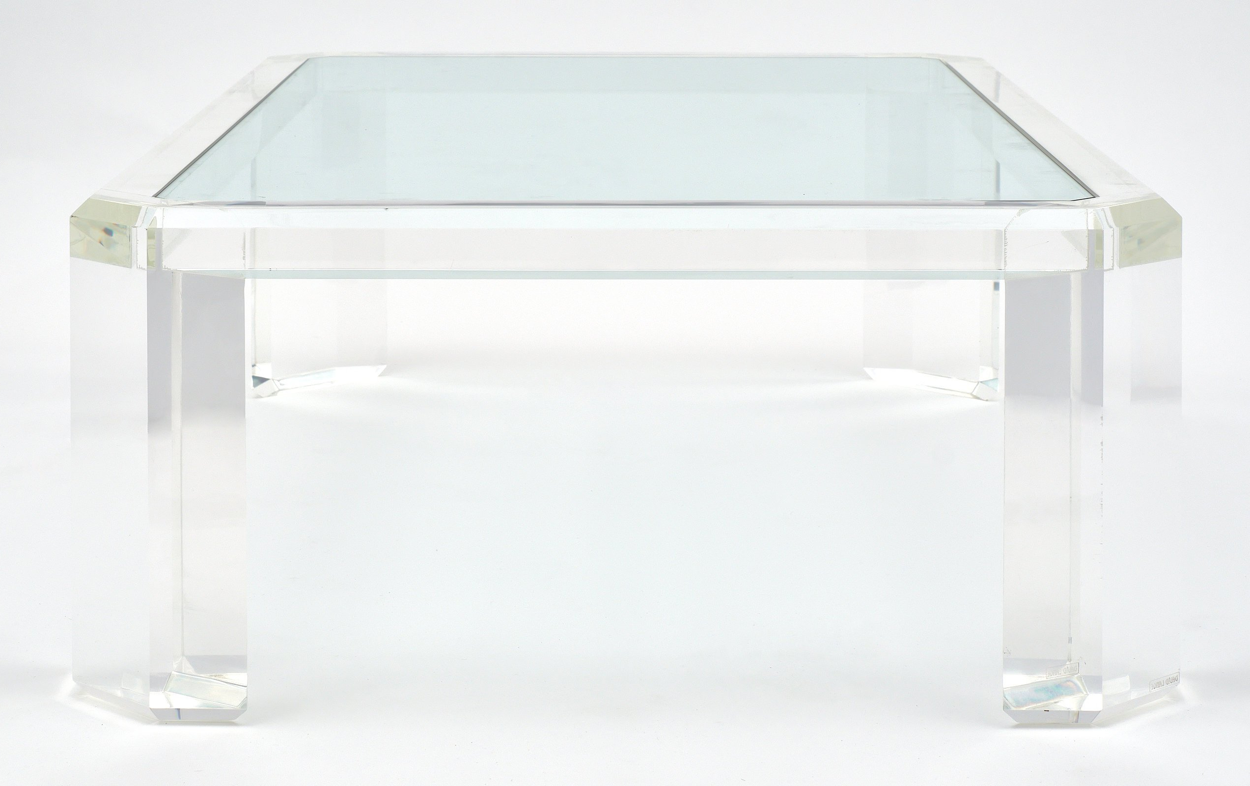 Stately Acrylic Coffee Tables In Popular Lucite French Vintage Coffee Table At 1stdibs (View 14 of 20)