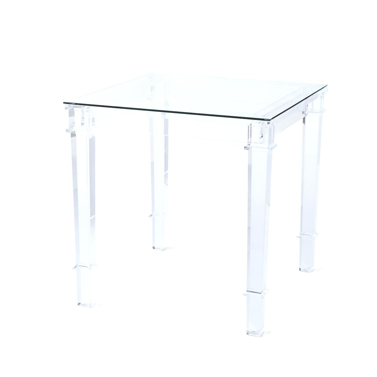 Stately Acrylic Coffee Tables Pertaining To Popular Acrylic Side Table – Stanislas.club (Gallery 9 of 20)