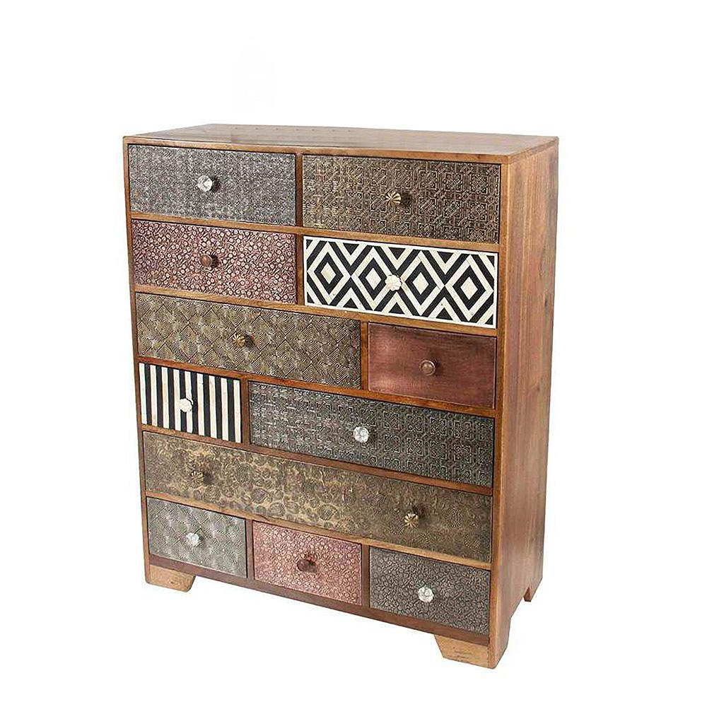 Steve Silver Company Havana Multi Drawer Mango Wood Sideboard With Pertaining To Well Known Iron Sideboards (View 18 of 20)