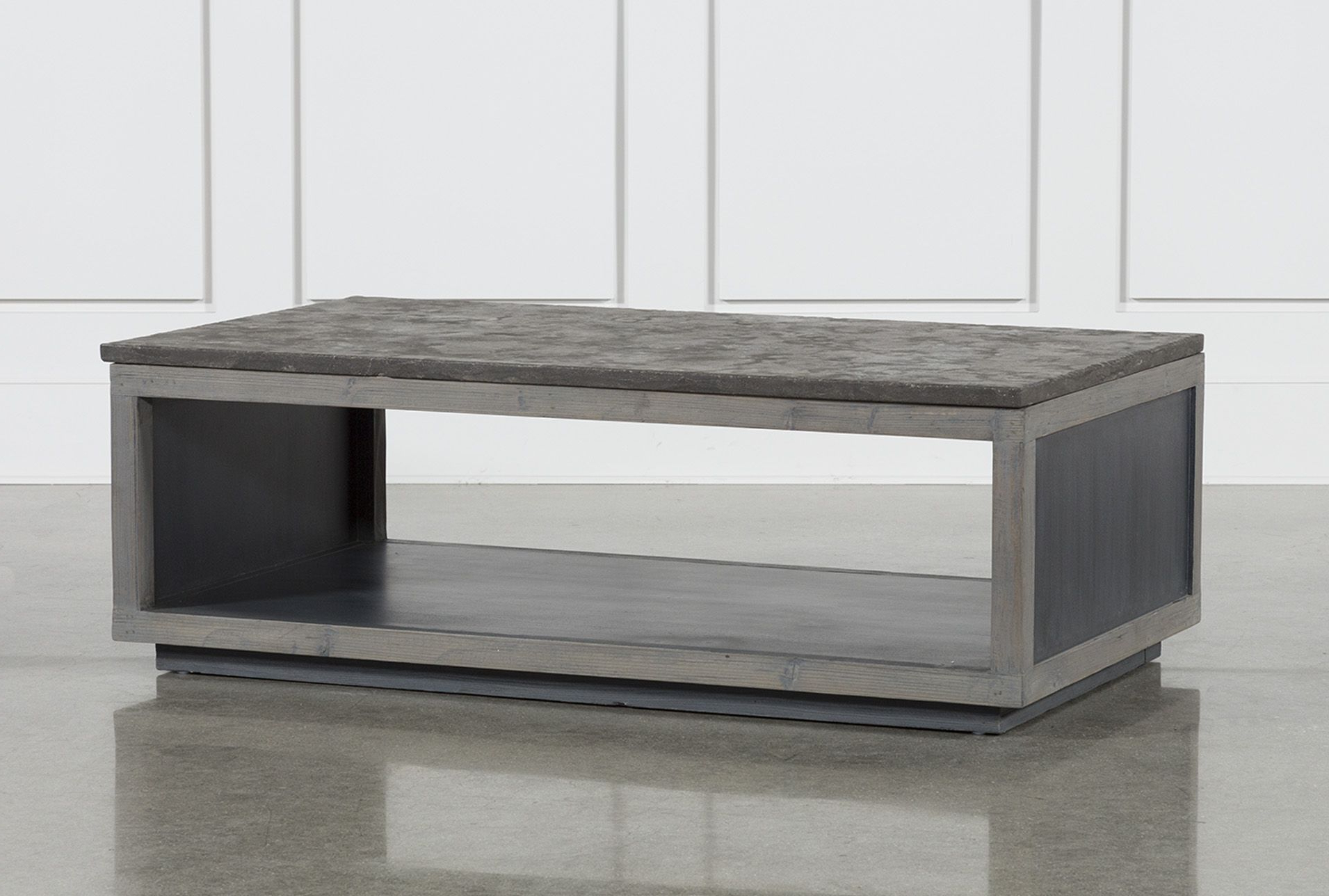 Stone Coffee Table And In Recent Charcoal Finish 4 Door Jumbo Sideboards (Gallery 6 of 20)