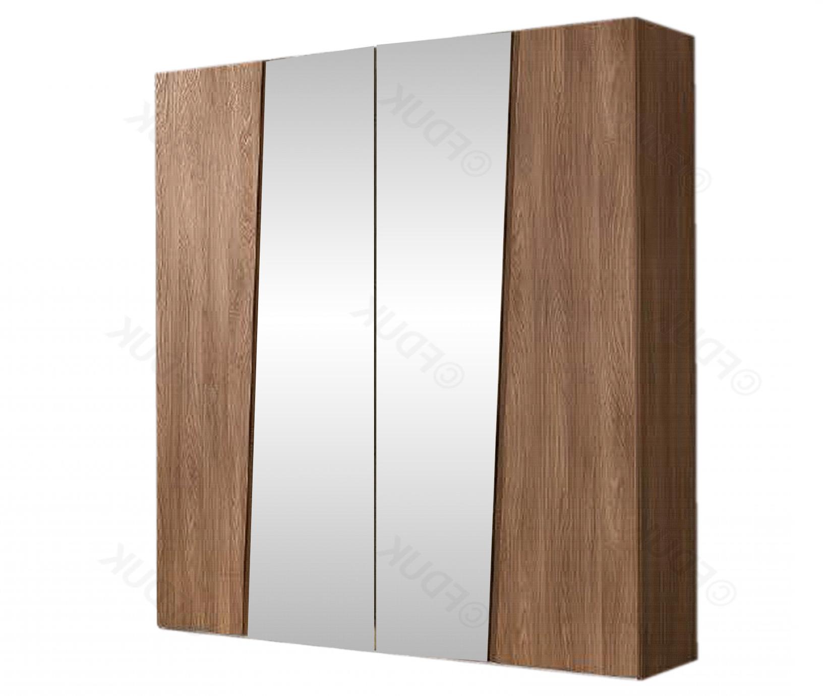 Storm Walnut Finish 4 Door Mirror Wardrobe (View 15 of 20)
