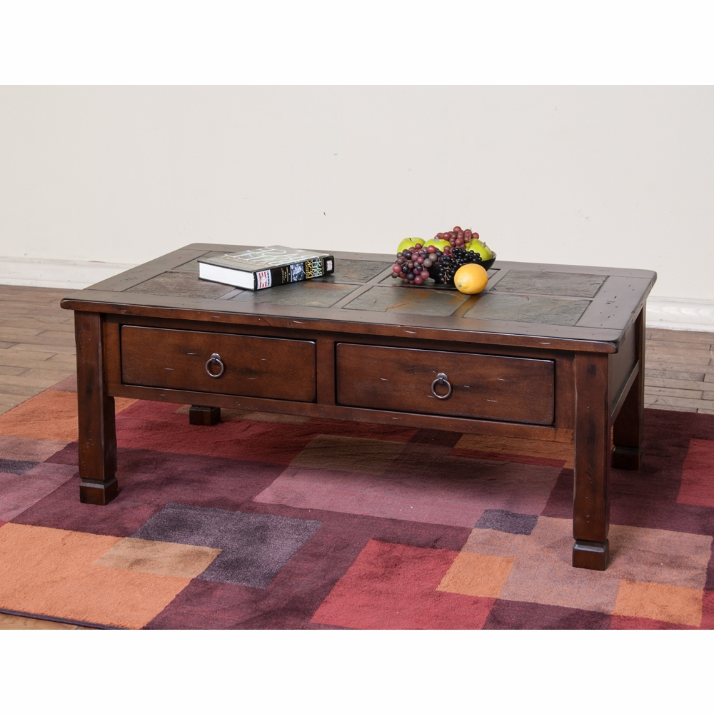 Sunny Designs – Santa Fe Coffee Table W/ Slate Top – 3143Dc Within Preferred Santa Fe Coffee Tables (Gallery 18 of 20)