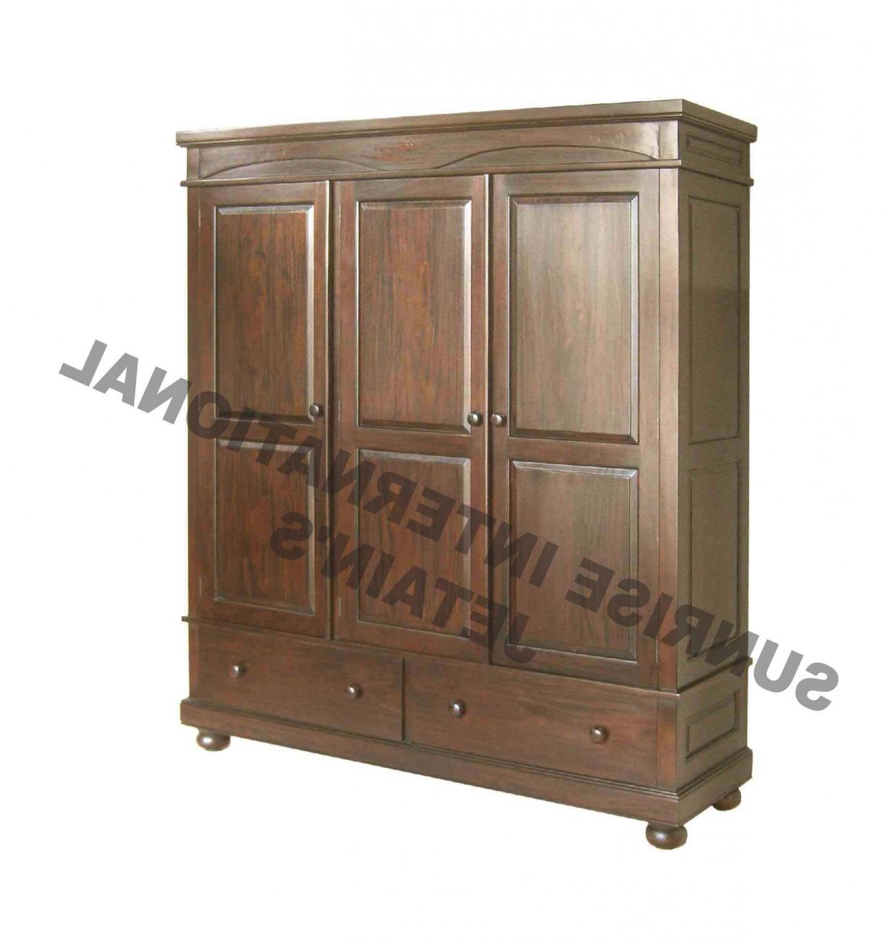 Sunrise International – Wooden Almirah & Wardrobes In Well Liked 2 Door/2 Drawer Cast Jali Sideboards (View 18 of 20)