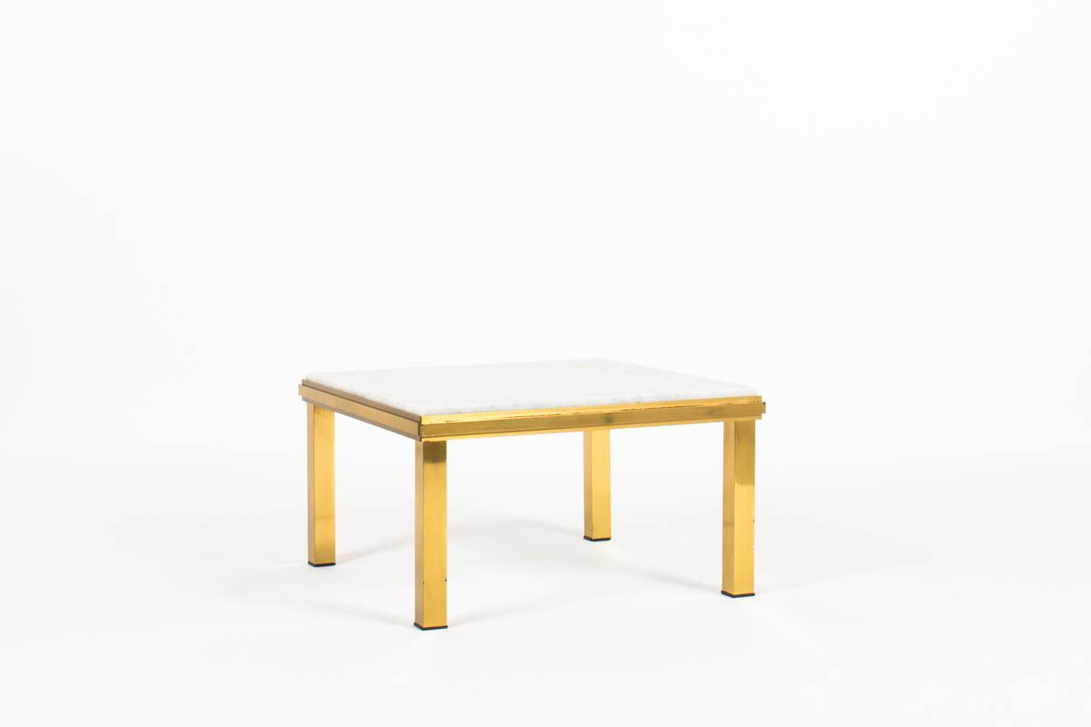Suspend Ii Marble And Wood Coffee Tables For 2019 Brass Coffee Table With Carrara Marble Top, 1950S For Sale At Pamono (View 12 of 20)
