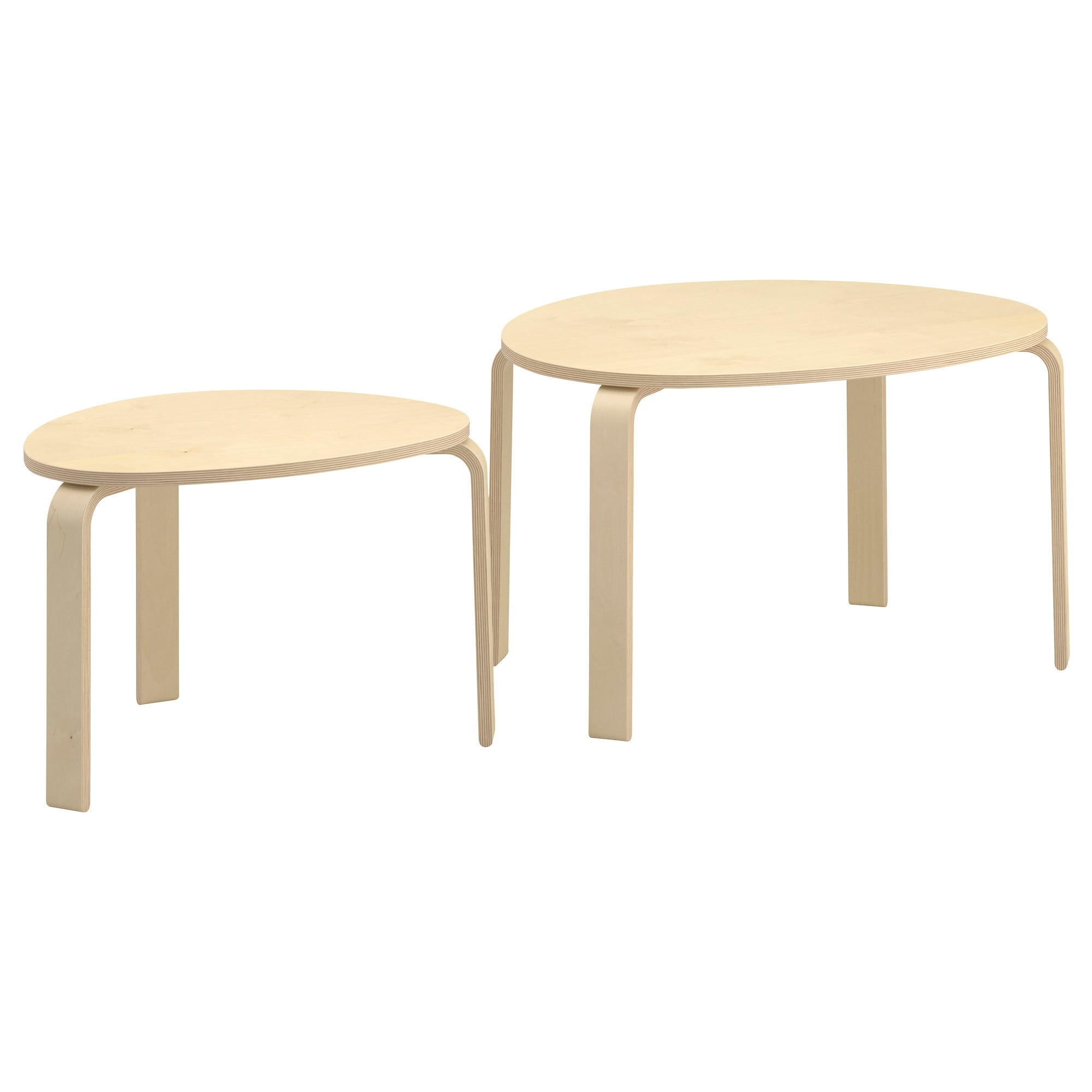 Svalsta Nest Of Tables, Set Of 2 Birch Veneer – Ikea With Most Recent Set Of Nesting Coffee Tables (Gallery 18 of 20)