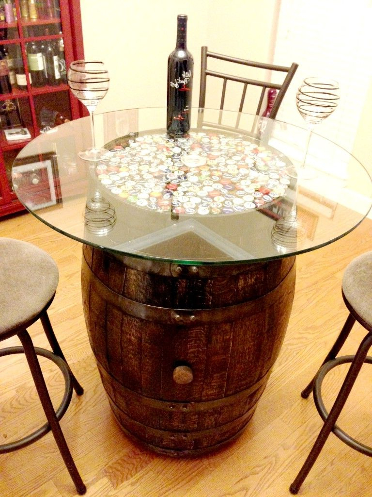 Table Made From A Wine Barrel. I Think I Would Like Wine Corks Intended For Recent Corrugated White Wash Barbox Coffee Tables (Gallery 3 of 20)
