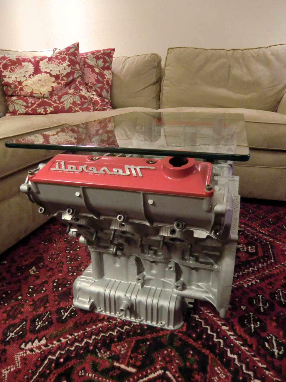 Tamerlane's Thoughts: Engine Block Coffee Table Complete! Within Well Known Donnell Coffee Tables (View 17 of 20)