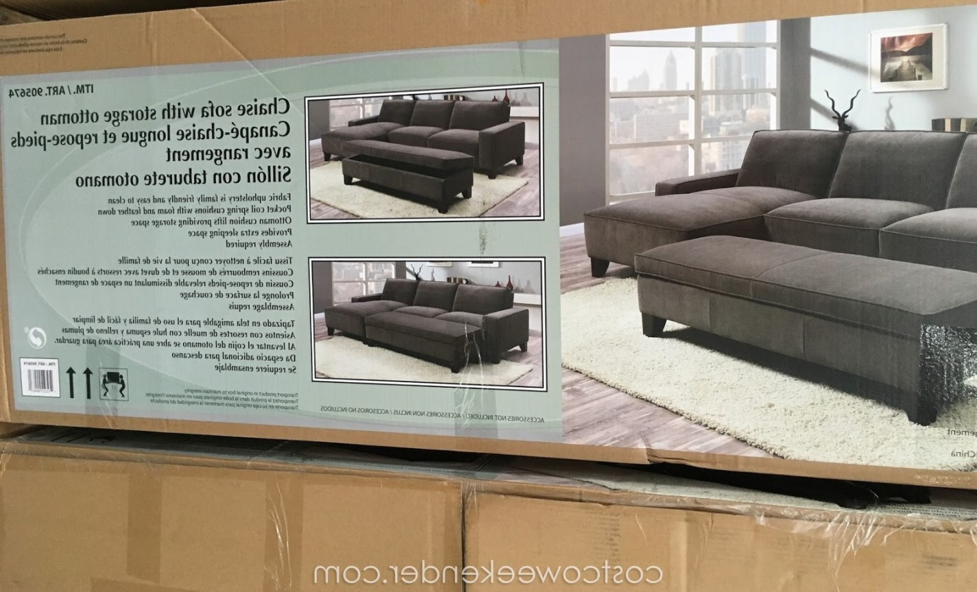 Taren Reversible Sofa/chaise Sleeper Sectionals With Storage Ottoman For Preferred Sofa Chaise Ottoman With Storage (View 19 of 20)