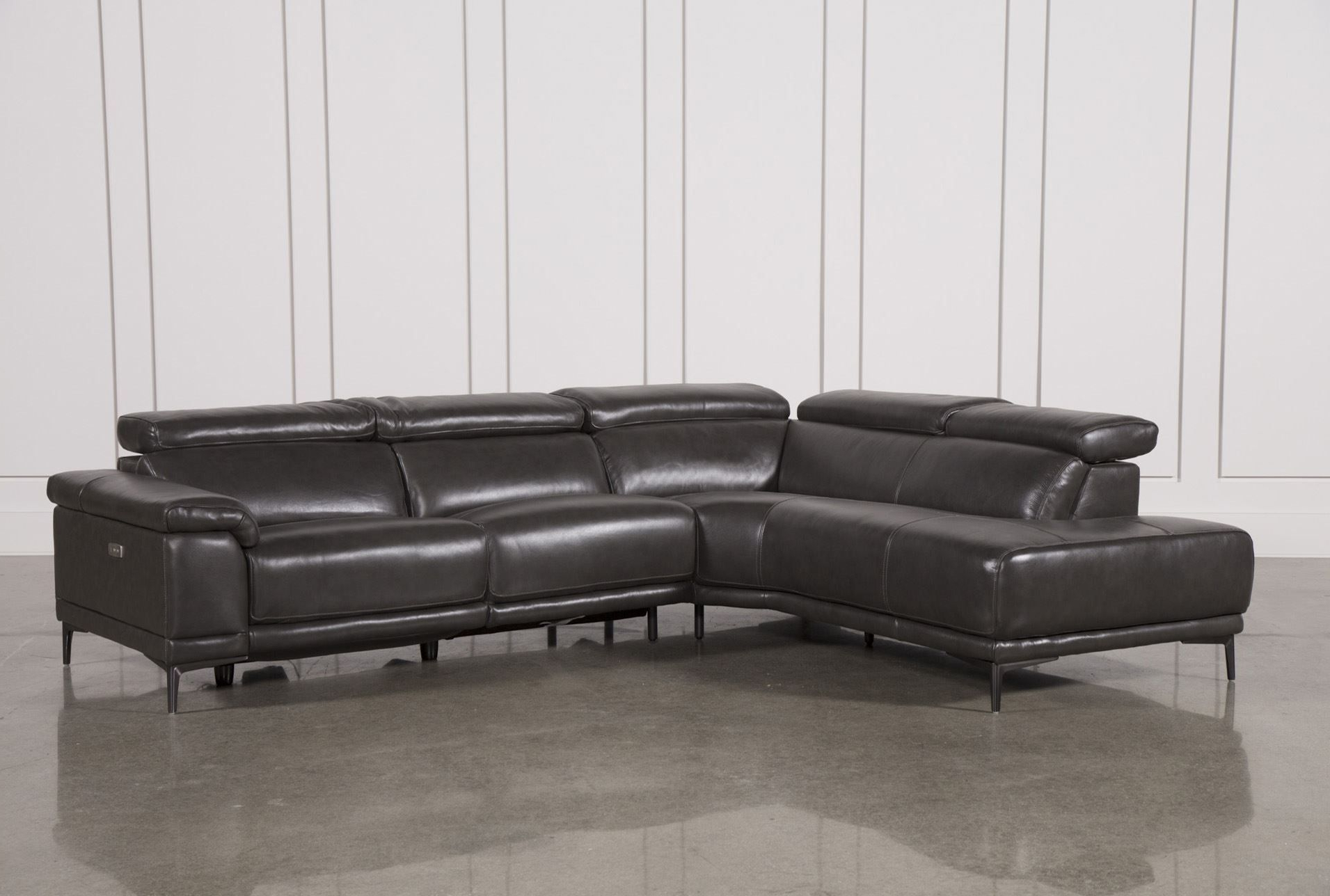 Tatum Dark Grey 2 Piece Sectional W/laf Chaise In  (View 17 of 20)