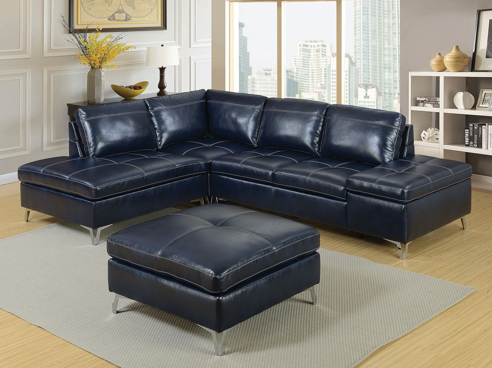 Tatum Dark Grey 2 Piece Sectionals With Laf Chaise For Well Known Leather Sectionals (Gallery 15 of 20)
