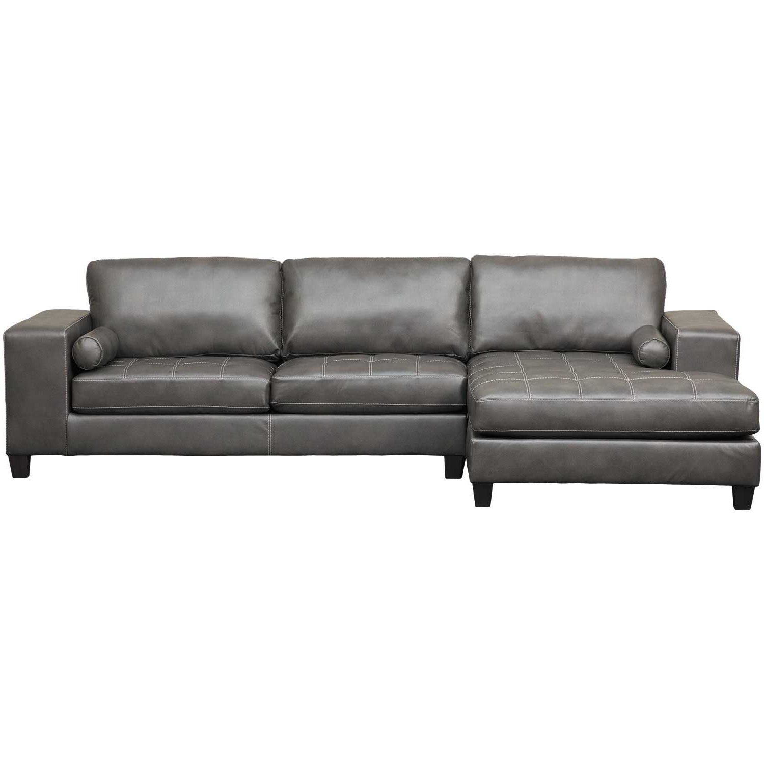 Tatum Dark Grey 2 Piece Sectionals With Laf Chaise Regarding Famous White Chaise Sofa Bed (View 16 of 20)