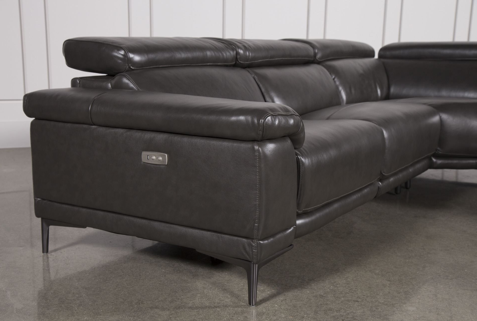Tatum Dark Grey 2 Piece Sectionals With Raf Chaise With Regard To Well Known Charcoal Grey Leather Sofa New 50 Best Brown Leather Sofa Living (View 17 of 20)