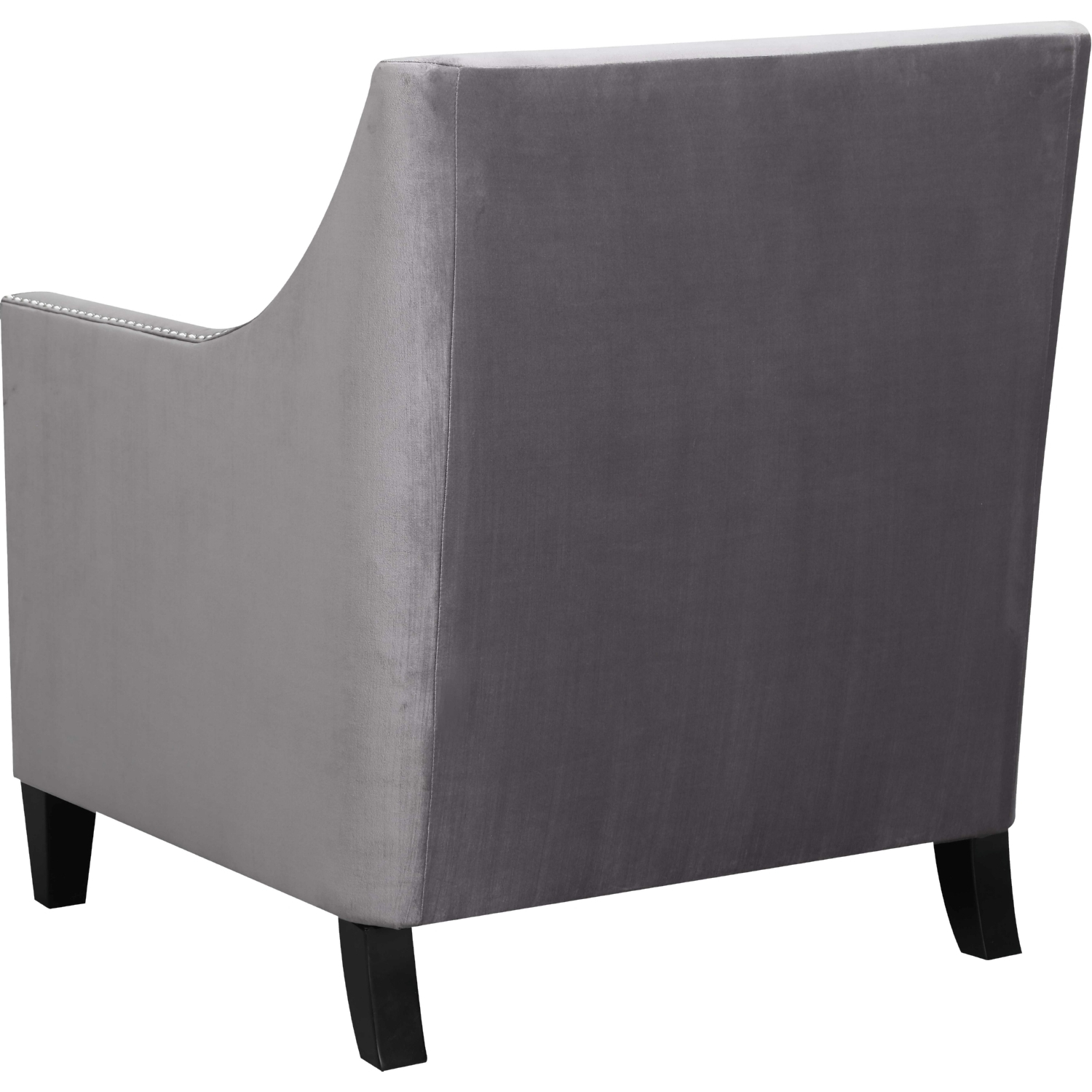 Teagan Accent Chair In Tufted Gun Metal W/ Nailhead Trimpicket House  Furniture Intended For Recent Teagan Sideboards (Gallery 13 of 20)