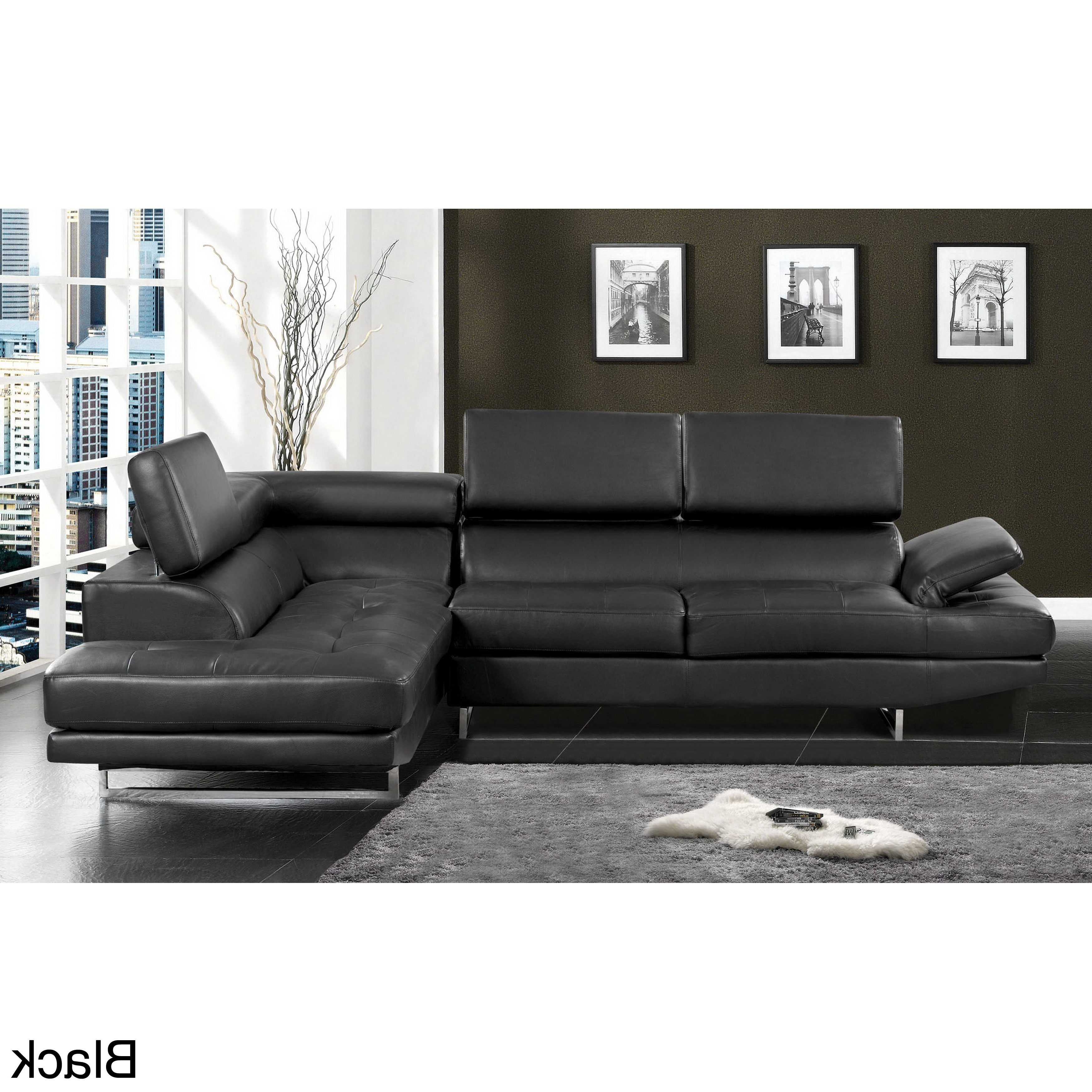 Tenny Cognac 2 Piece Left Facing Chaise Sectionals With 2 Headrest Regarding Newest Leather Sectional With Adjustable Headrest @os (View 16 of 20)