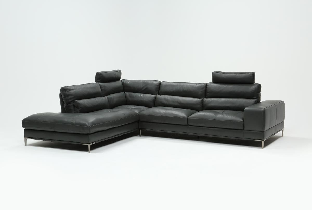 Featured Photo of Tenny Dark Grey 2 Piece Left Facing Chaise Sectionals With 2 Headrest