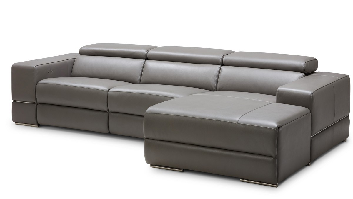 Tenny Dark Grey 2 Piece Right Facing Chaise Sectionals With 2 Headrest For Well Known Grand Tenny Grey Piece Left Facing Chaise Sectional Headrest Been (View 16 of 20)