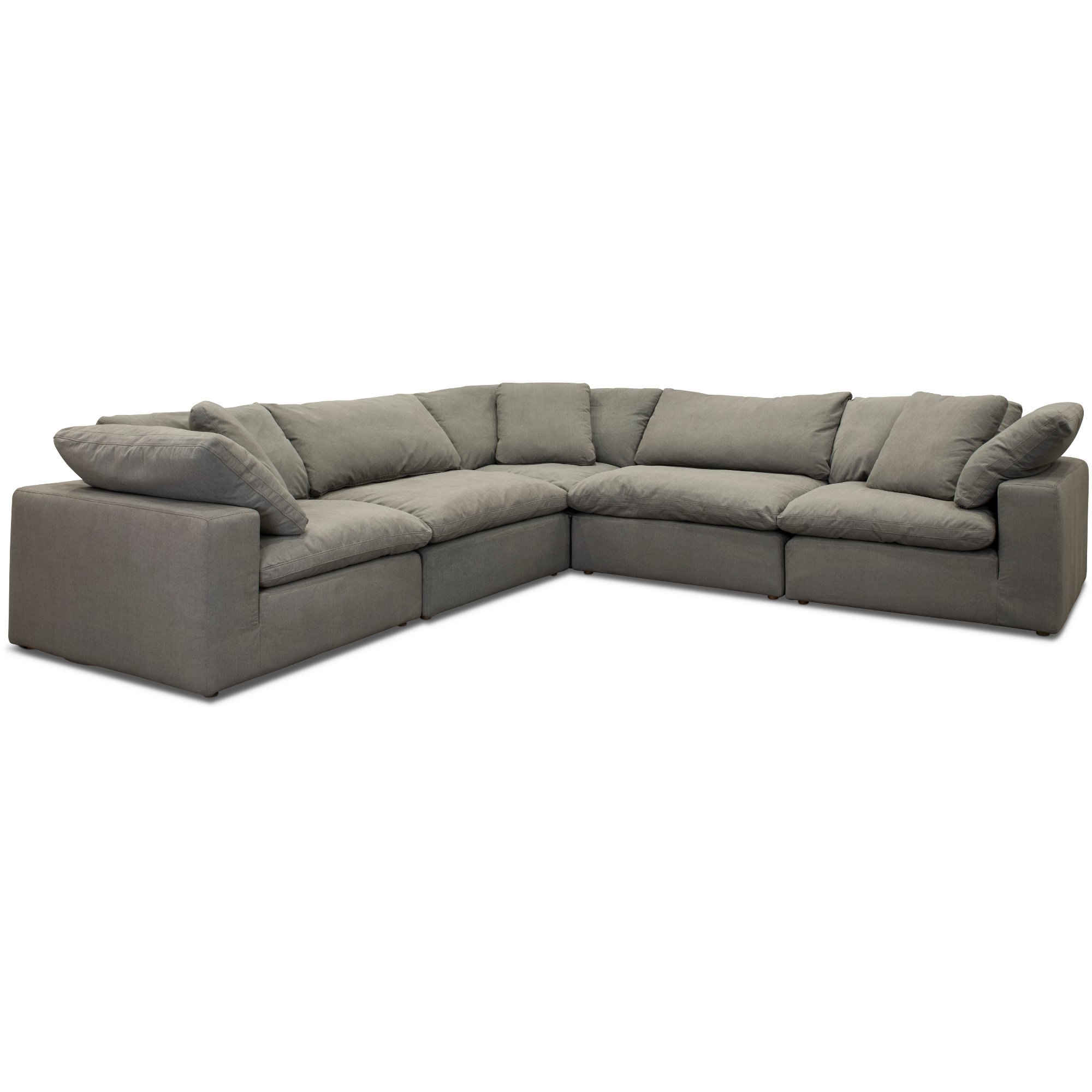 Tenny Dark Grey 2 Piece Right Facing Chaise Sectionals With 2 Headrest With 2019 Perfect Product Image Gennaro Pc Lear Sectional Lear Living Rooms (View 17 of 20)
