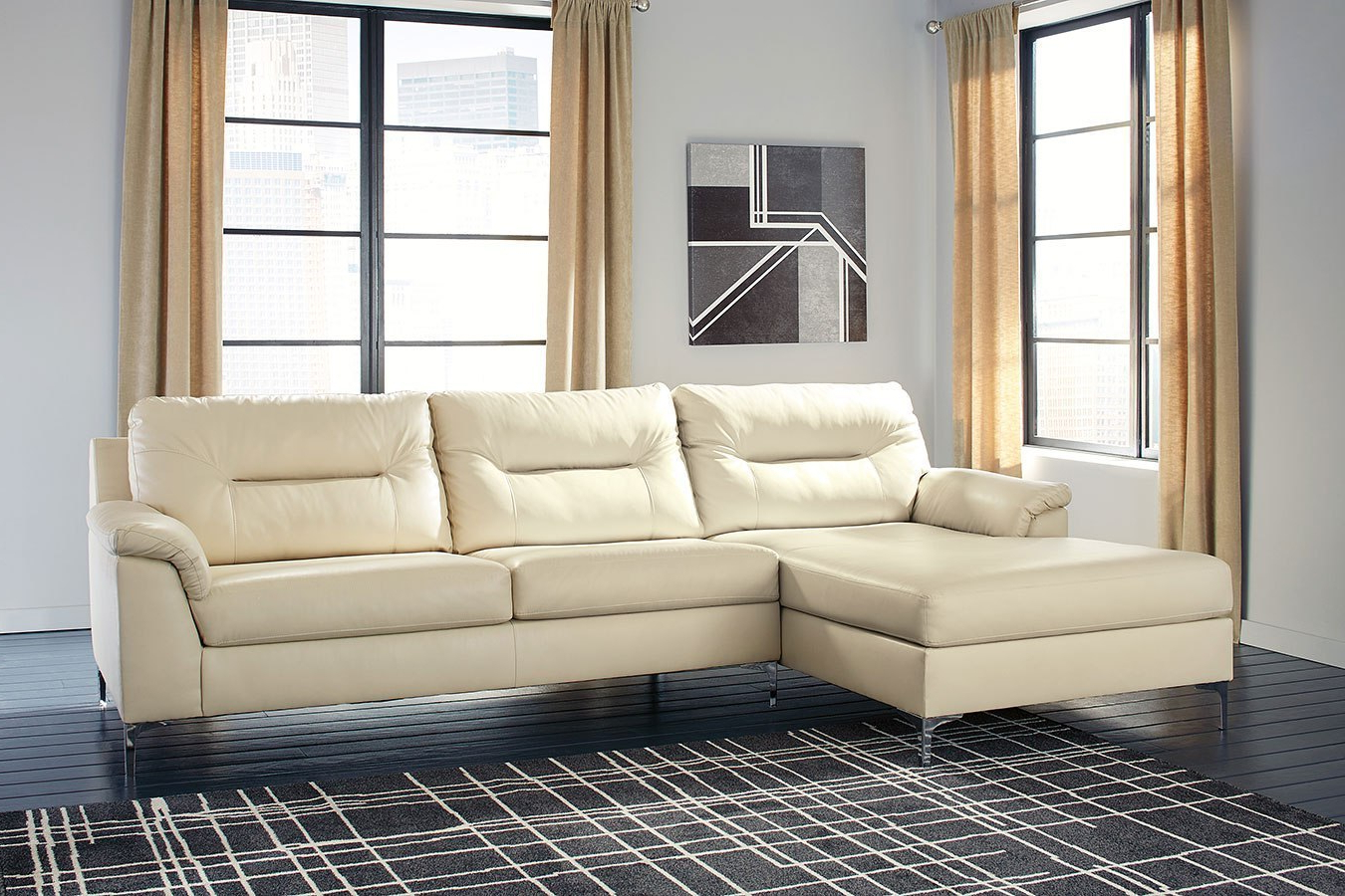 Tensas Ice Left Chaise Sectional – Living Room Furniture – Living Throughout Well Known Tess 2 Piece Power Reclining Sectionals With Laf Chaise (View 18 of 20)