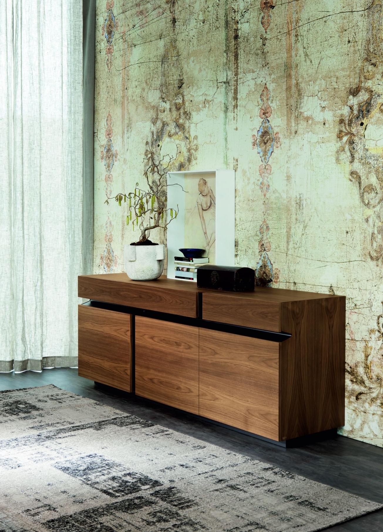 The Prisma Is A Striking Sideboard With 3 Doors And 2 Drawers In Most Recently Released Black Burnt Oak Sideboards (View 15 of 20)