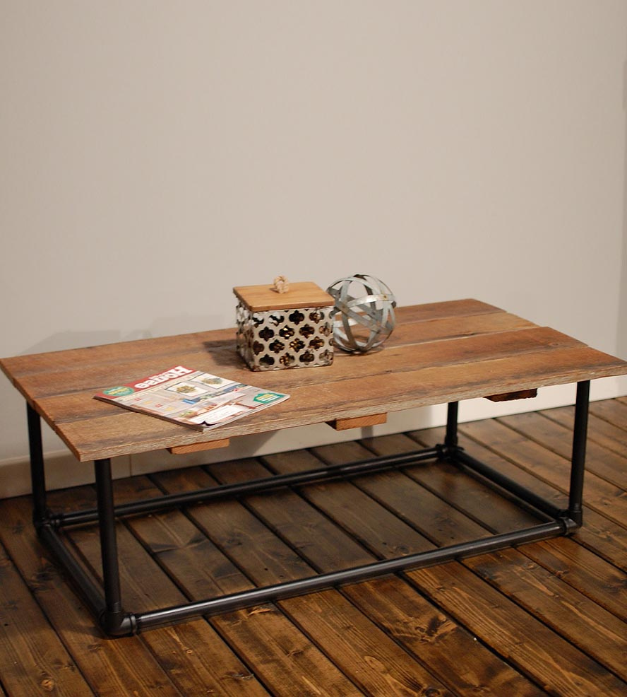 The Super Fun End Table With Pipe Legs Images : Jockboymusic Throughout Most Current Pine Metal Tube Coffee Tables (View 20 of 20)