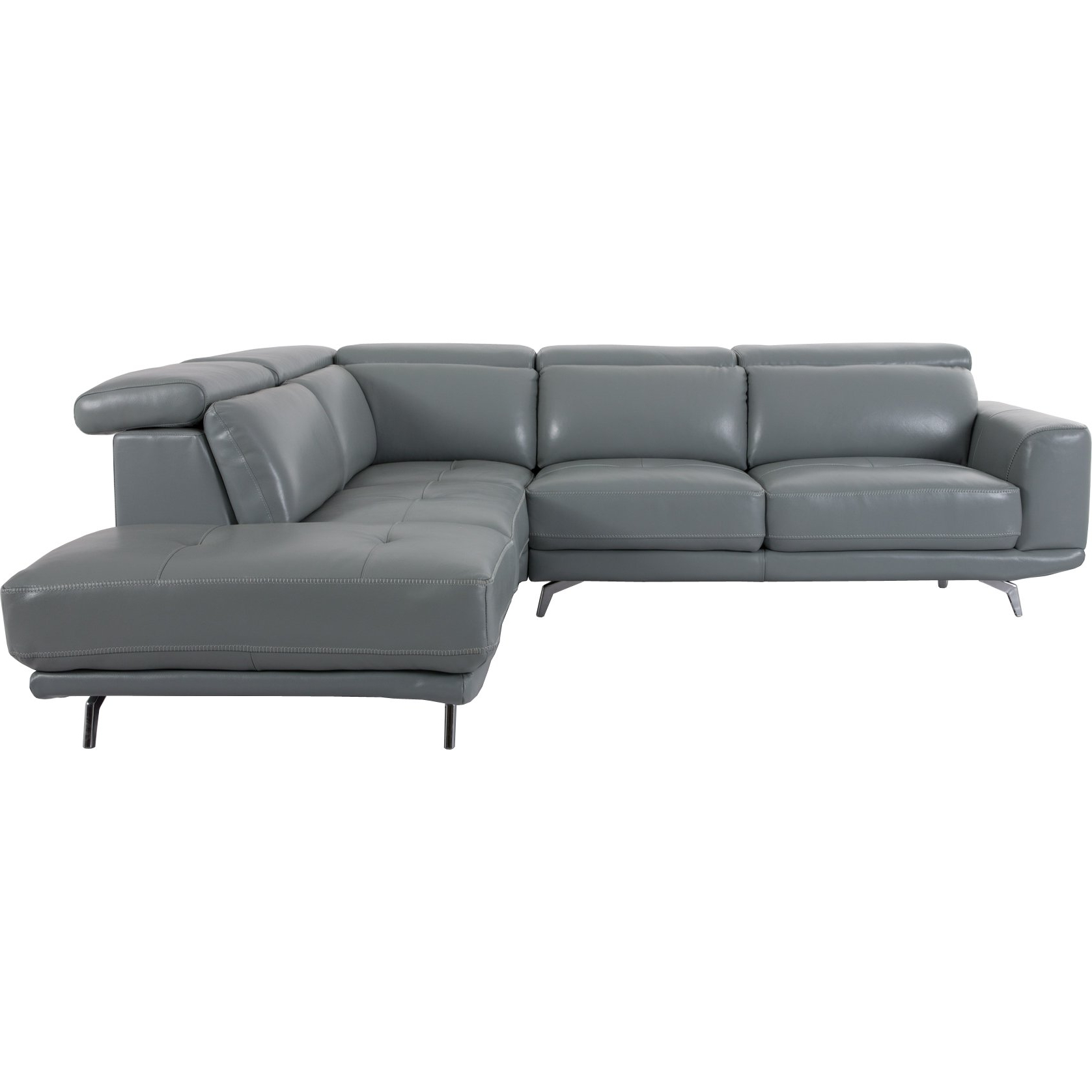 Thesofasite.co Intended For Clyde Grey Leather 3 Piece Power Reclining Sectionals With Pwr Hdrst & Usb (Gallery 5 of 20)