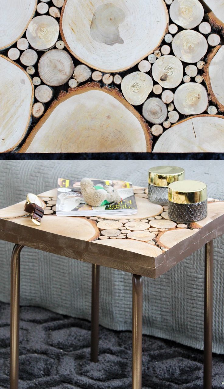 This Wooden Coffee Table Is Made Of Small And Big Tree Trunk Slices Within Popular Sliced Trunk Coffee Tables (View 5 of 20)
