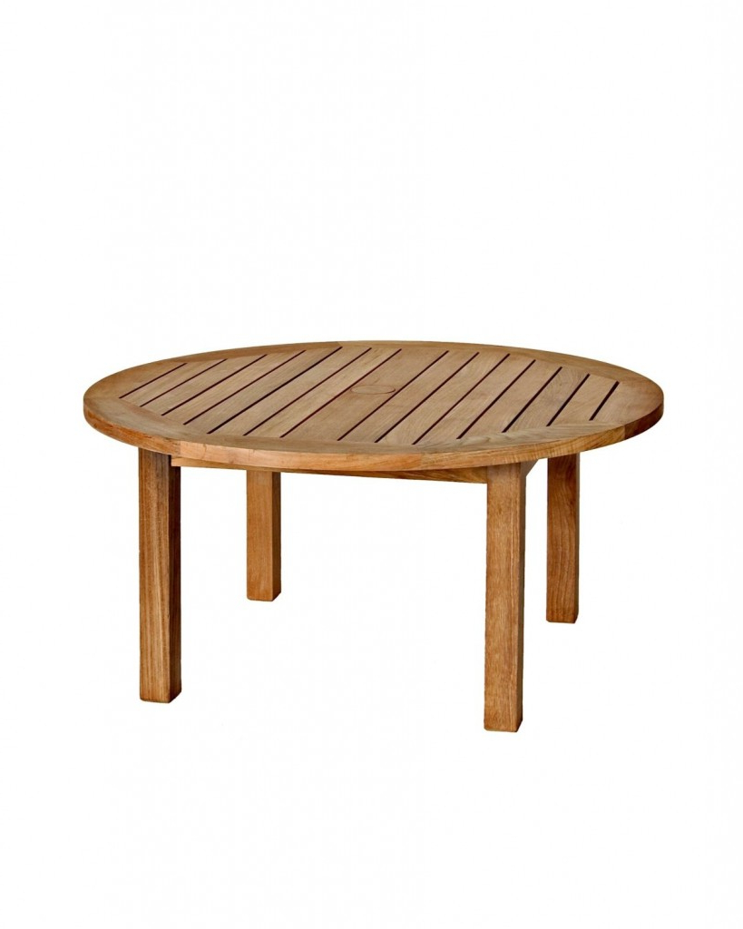 Three Birds Casual Canterbury 36 Inch Round Teak Coffee Table – Teak Inside Popular Round Teak Coffee Tables (Gallery 16 of 20)