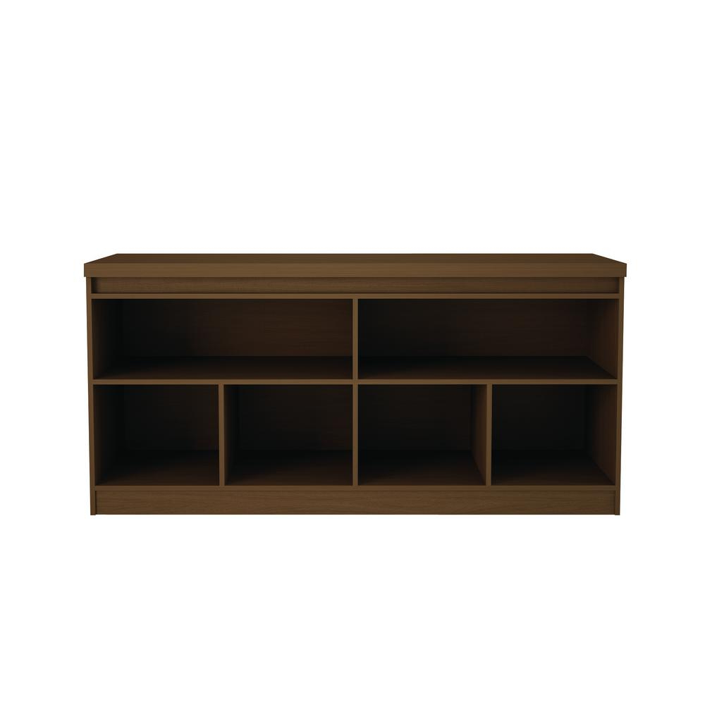 Tobias 4 Door Sideboards With Regard To Well Known Manhattan Comfort Viennese 62.99 In. Nut Brown 6 Shelf Buffet (Gallery 16 of 20)