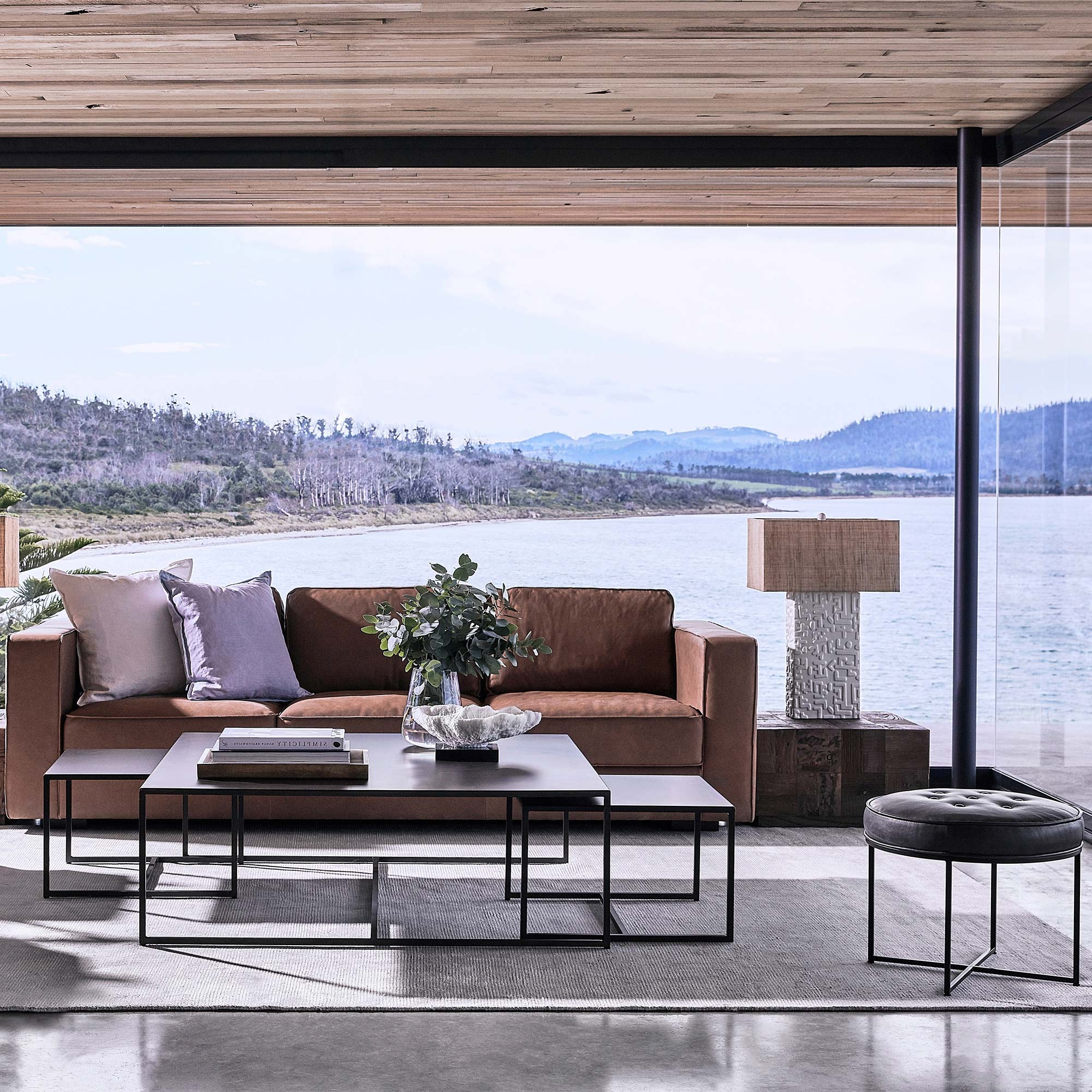 Tomo Nesting Coffee Tables Within Most Popular Waxed Metal Coffee Tables (Gallery 15 of 20)