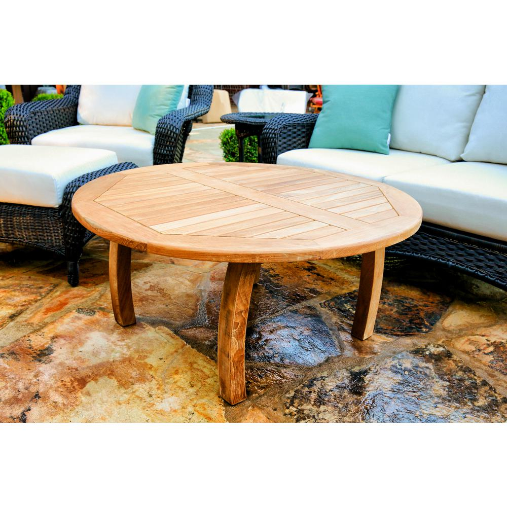 Tortuga Outdoor Jakarta 40 In. Round Teak Outdoor Coffee Table Tk R Inside Most Current Round Teak Coffee Tables (Gallery 13 of 20)
