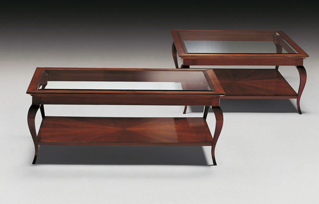 Traditional Coffee Table / Glass / Rectangular – Ottocento – Medea Inside Fashionable Traditional Coffee Tables (View 8 of 20)