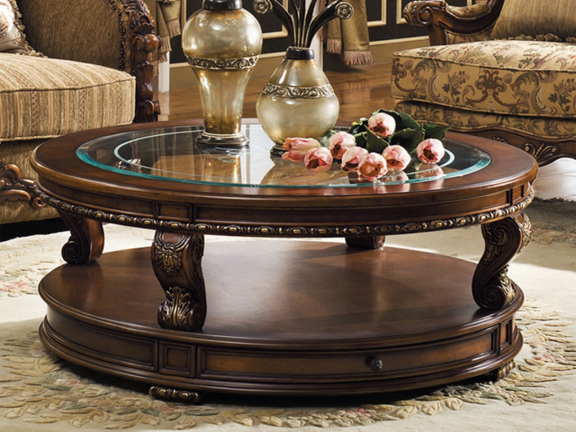 Traditional Coffee Tables Regarding Famous Traditional Coffee Table Sets Round – Thelightlaughed (View 11 of 20)