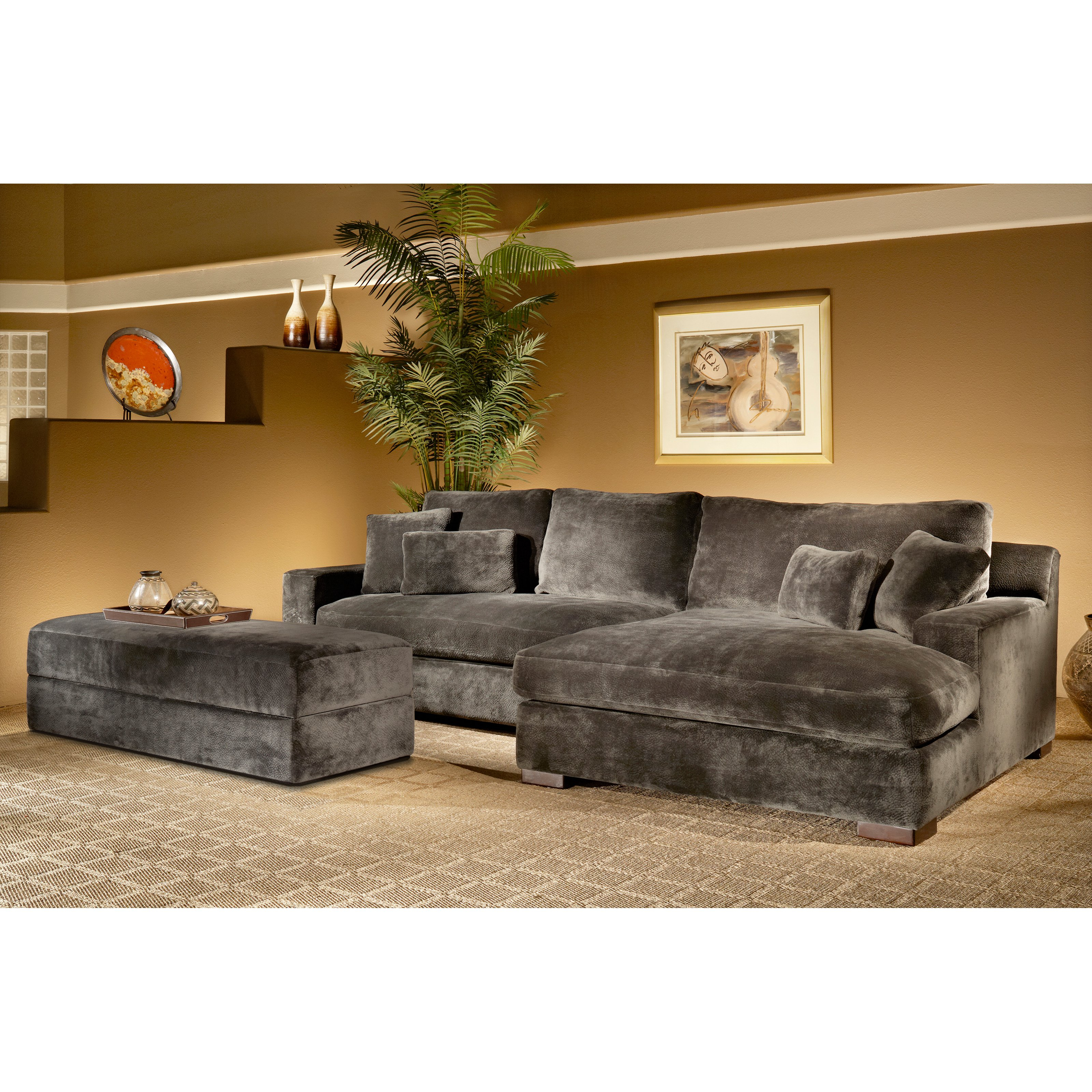 Transitional Sectional Comfy Amp Stylish Home Decor T In Most Recent Avery 2 Piece Sectionals With Raf Armless Chaise (View 20 of 20)