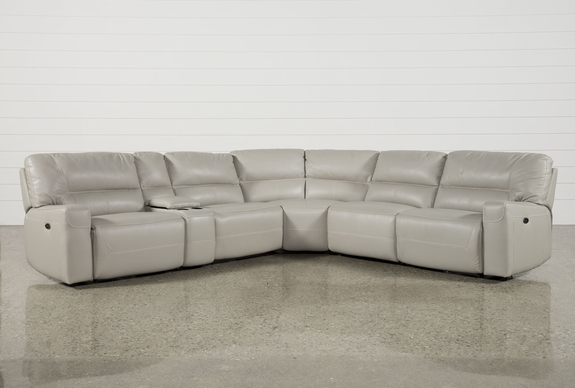 Trendy 6 Piece Power Reclining Sectional, Renaldo, Grey, Sofas (Gallery 1 of 20)