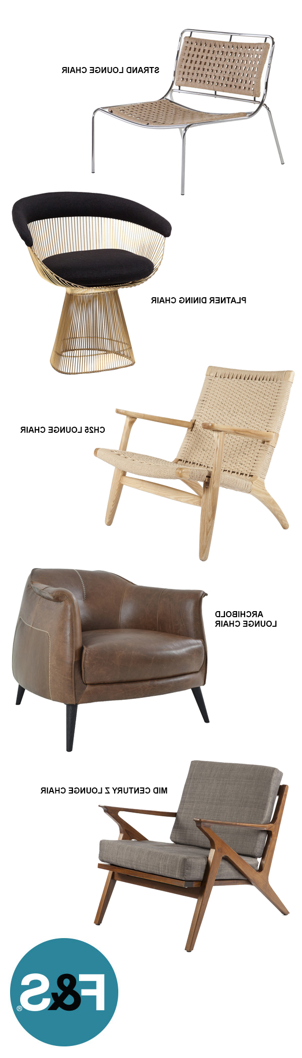 Trendy A Collection Or Mid Century And Modern Lounge Chairs That Is Regarding Marcus Oyster 6 Piece Sectionals With Power Headrest And Usb (View 6 of 20)