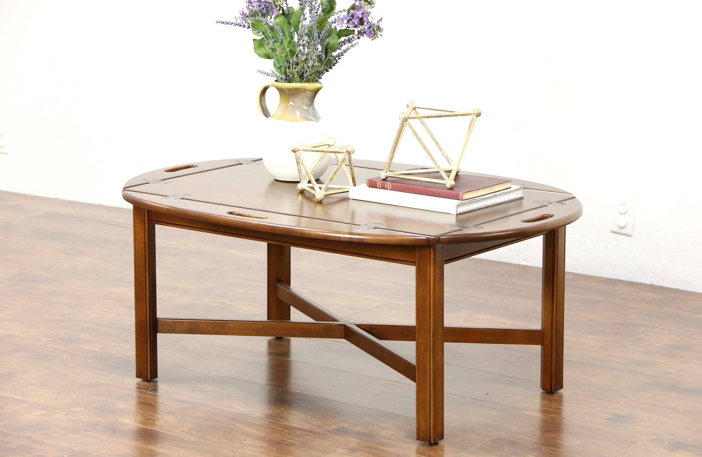Trendy Allen Cocktail Tables With Sold – Ethan Allen Signed Vintage Cherry Butler Coffee Or Cocktail (View 7 of 20)