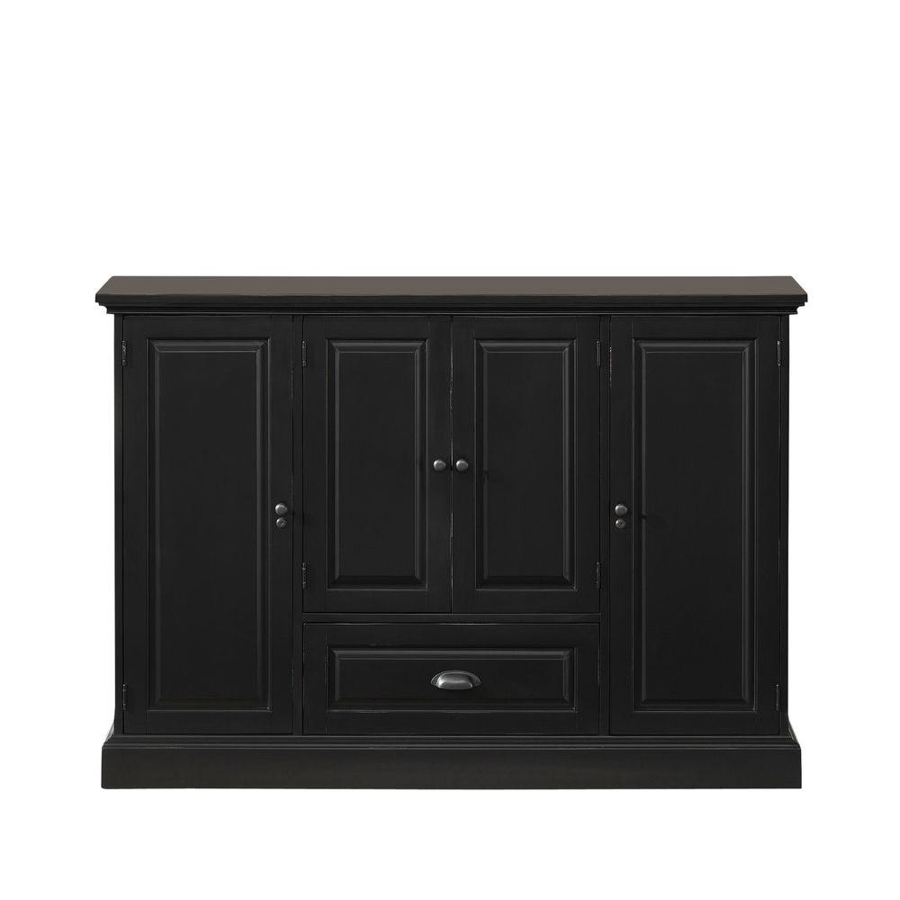 Trendy American Heritage Billiards Carlotta Antique Black Buffet 600055ab In Amos Buffet Sideboards (View 7 of 20)