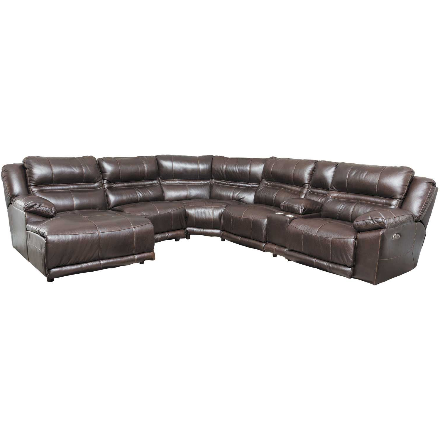 Trendy Bergamo 6 Piece Power Reclining Sectional With Adjustable Headrest Inside Jackson 6 Piece Power Reclining Sectionals (View 2 of 20)