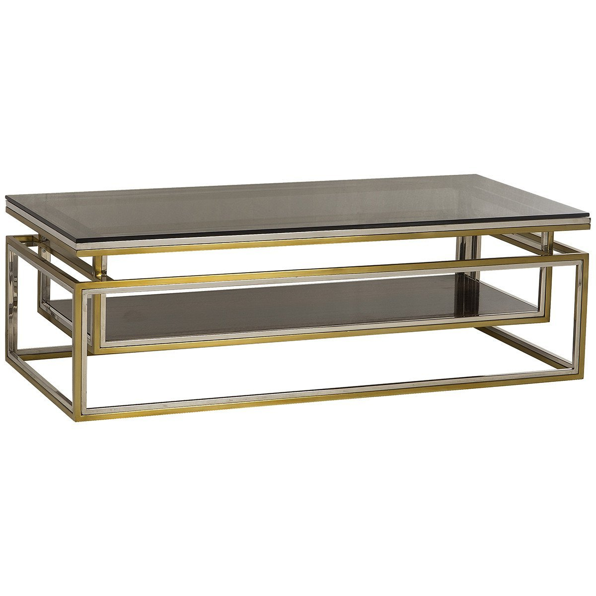Trendy Boyd Drop Shelf Coffee Table – Smoked Glass (View 14 of 20)