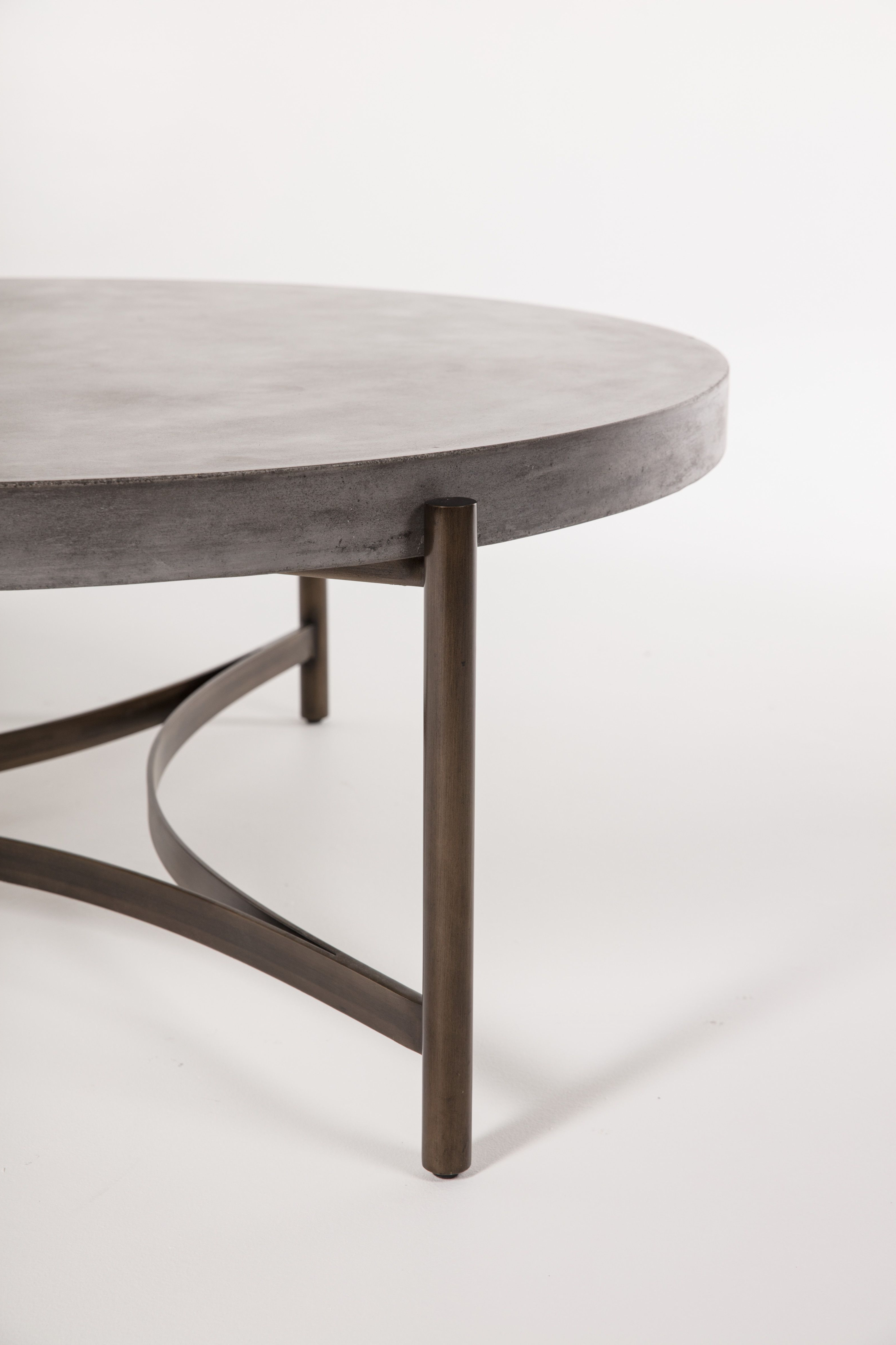 Trendy Bronze & Cement Cocktail Table (Gallery 5 of 20)