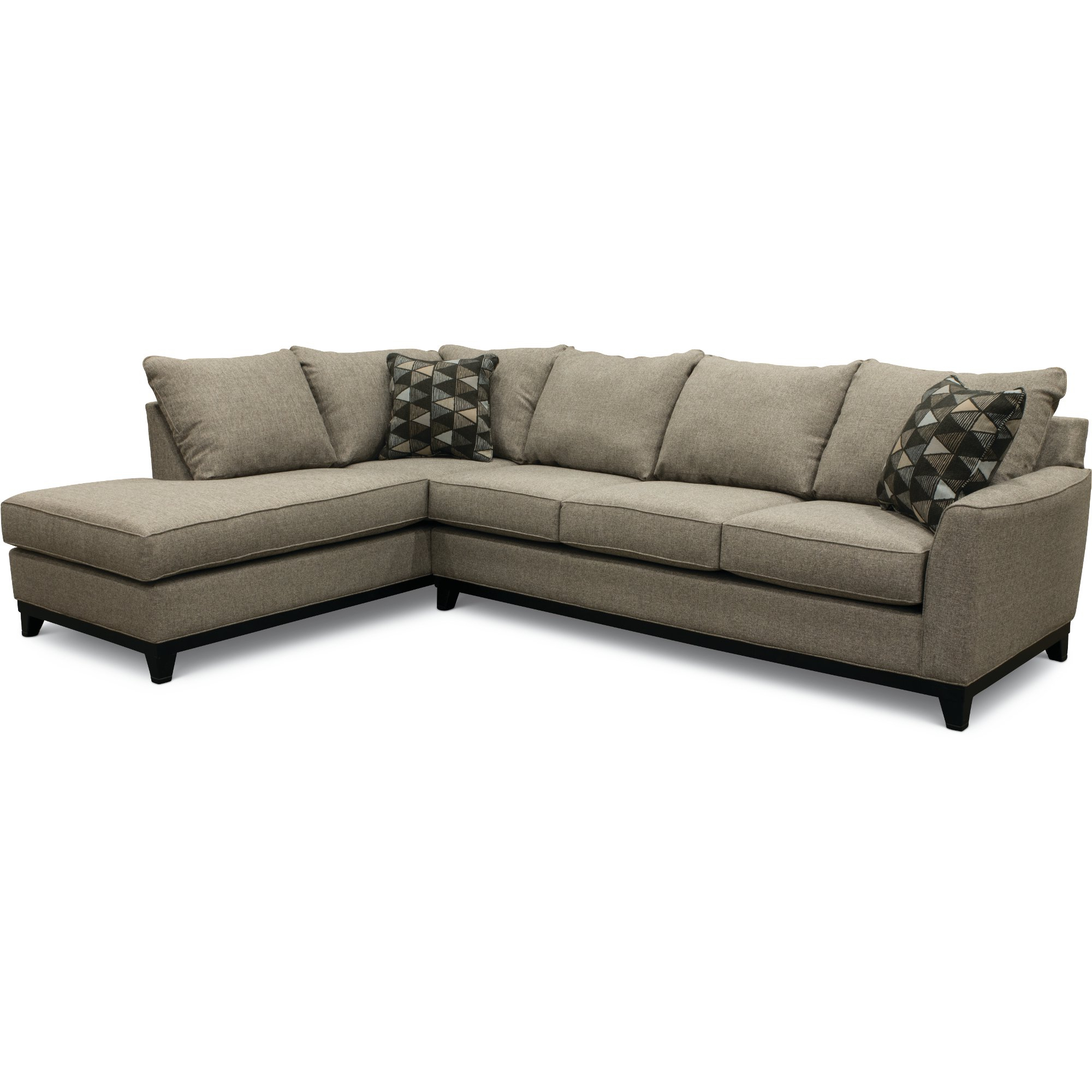Trendy Casual Contemporary Slate Gray 2 Piece Sectional Sofa – Emerson (View 11 of 20)