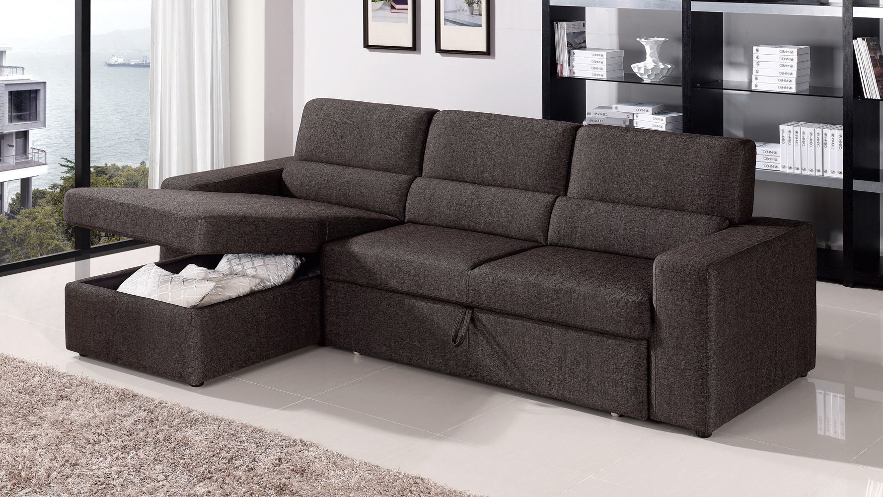 Trendy Chaise Sleeper Sofa (View 18 of 20)