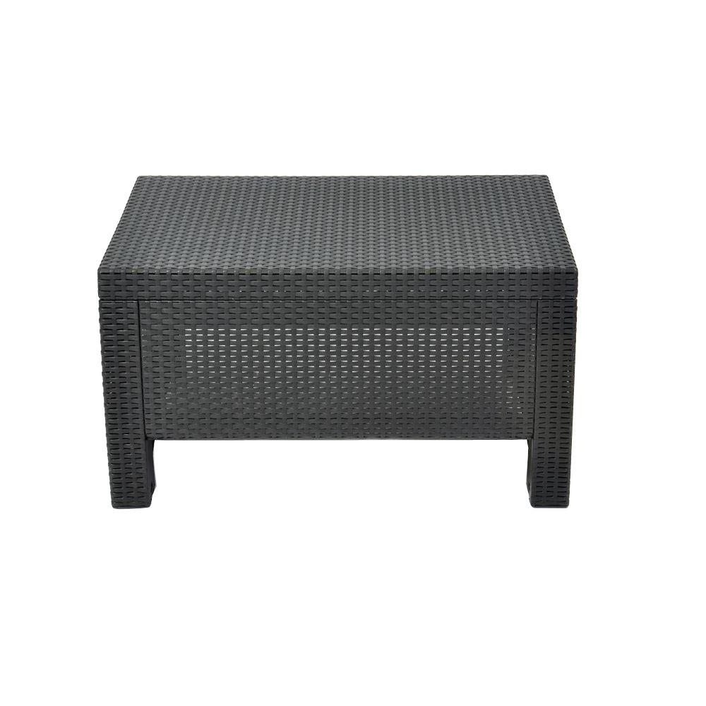 Trendy Contemporary Curves Coffee Tables Intended For Keter Corfu Charcoal All Weather Patio Coffee Table 205070 – The (View 12 of 20)