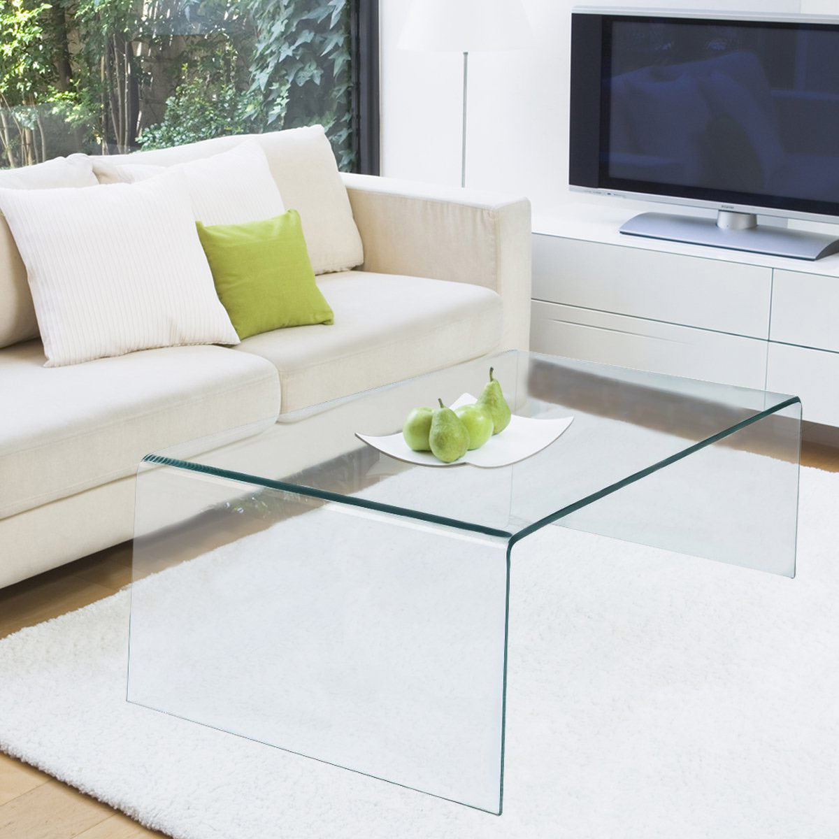 Trendy Contemporary Curves Coffee Tables Throughout The Best Glass Coffee Tables Under $200 (Gallery 11 of 20)